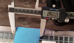 measuring exact length of cut glass